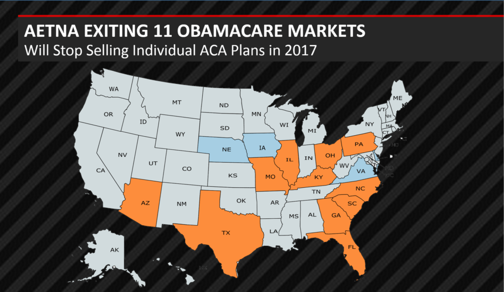 aetna exits 11 obamacare markets